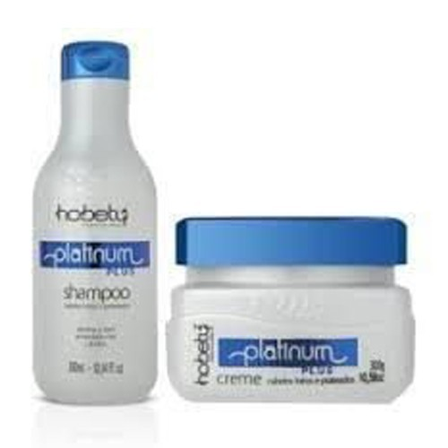 Hobety Kit Platinum Plus - Shampoo 300ml e Máscara 300g
