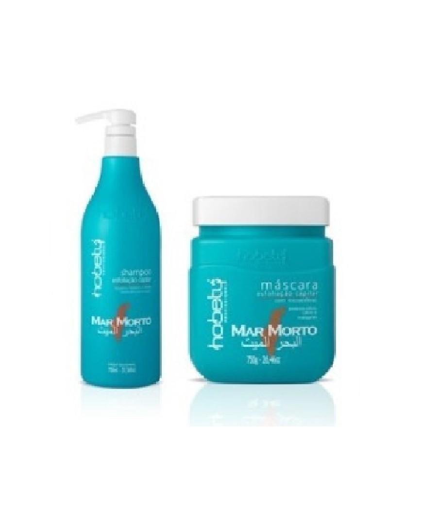 Hobety Mar Morto Kit Shampoo 750ml + Máscara 750gr
