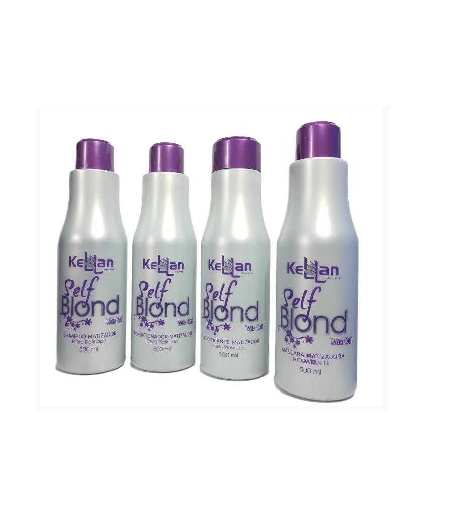 Kellan Kit Matizador Self Blond Completo Mix Oil Efeito Platinado 4x500ml