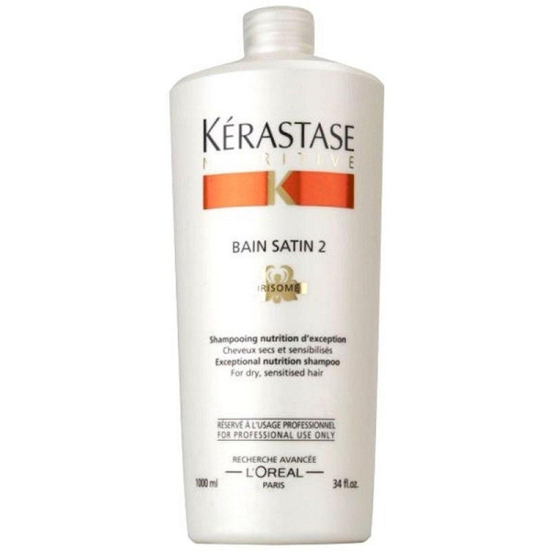 Kérastase Nutritive Bain Satin 2 - Shampoo Cabelos Secos 1L - CA