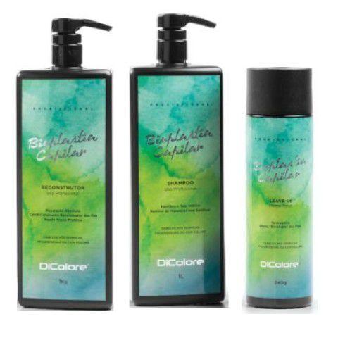 Kit Dicolore Bioplastia Shampoo 1L + Bioplastia Reconstrutor 1Kg + Bioplastia Capilar Leave-in 240g