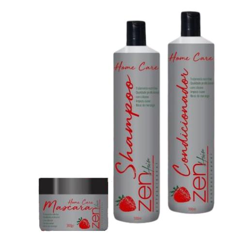 Kit Manutenção Morango Zen Hair - 3 Passos