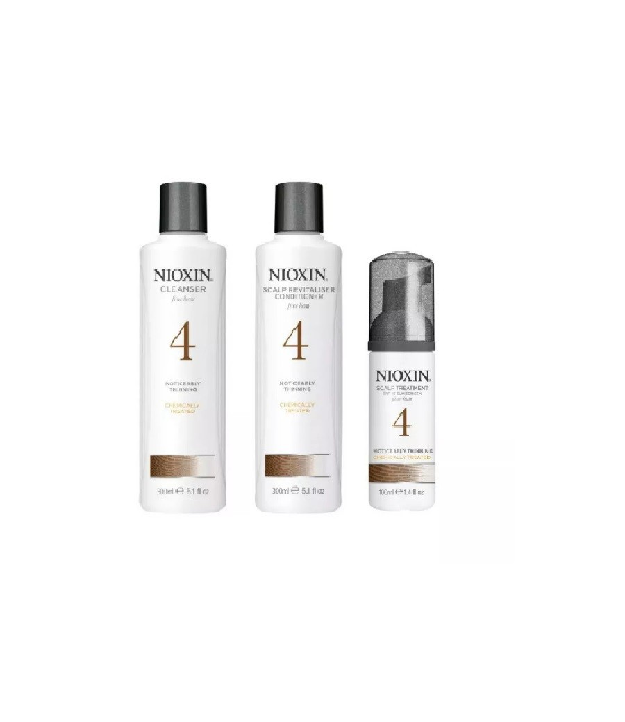 Wella Kit Nioxin System 4 Para Cabelos Finos - 3 Produtos