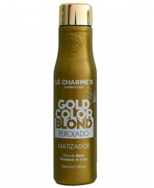 Lé Charmes Intensy Color Gold Blond Matizador Efeito Perolado 500ml - R