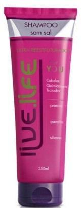 Live Life For You Shampoo Sem Sal 250ml