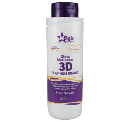 Magic Color Máscara Gloss Matizador 3D Platinum Branco 500ml - R
