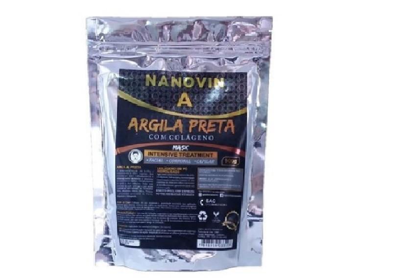 Nanovin A Argila Preta com Colageno 500g