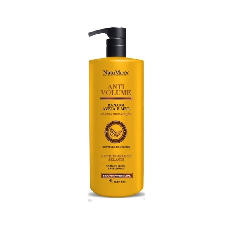 Natumaxx Anti Volume Banana, Aveia e Mel - Condicionador 1L