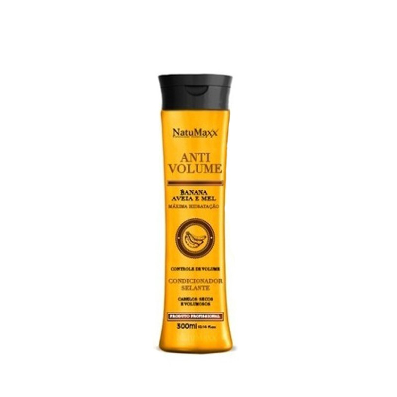 Natumaxx Anti Volume Banana, Aveia e Mel - Condicionador 300ml