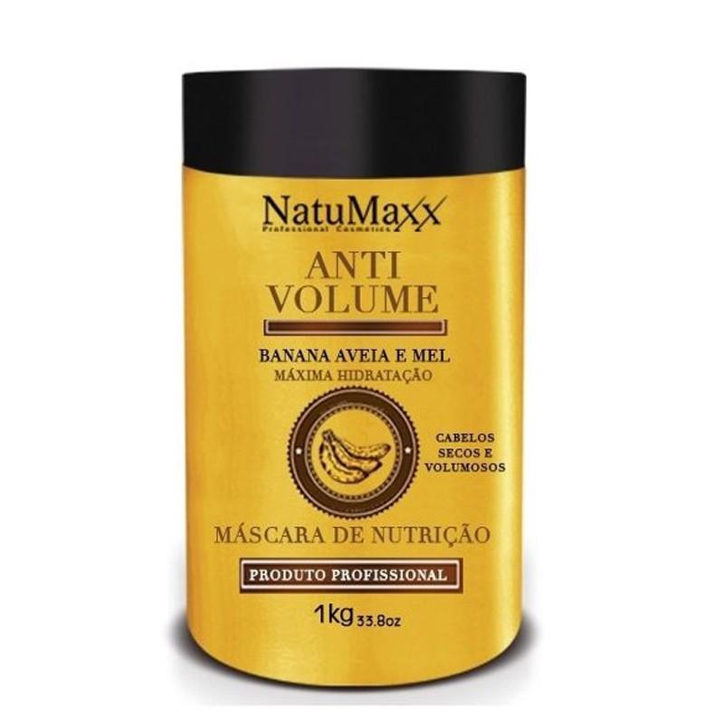 Natumaxx Anti Volume Banana, Aveia e Mel - Mascara 1kg