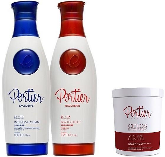 Portier Fine Combo Progressiva Premium 2 Passos x 1L  + Botox Ciclos Portier 1kg - T