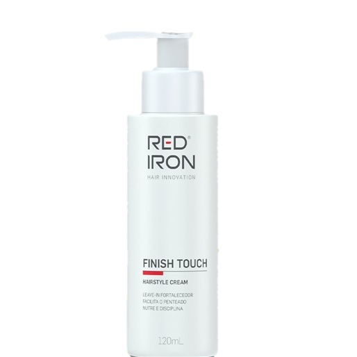 Red Iron Finish Touch Hairstyle Cream Leave-in 120ml