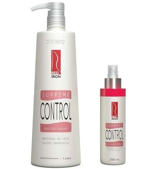 Red Iron Supreme Control Redutor Capilar 1000ml + Supreme Control Defrizante Térmico 250ml
