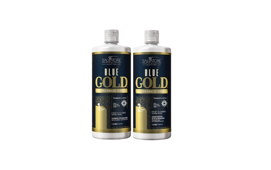 Salvatore Blue Gold - Escova Progressiva Italiana 2x1000ml - R