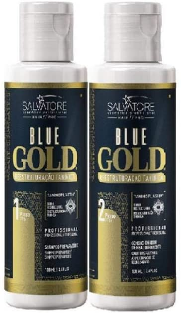 Salvatore Escova Progressiva Blue Gold 2x100ml - R