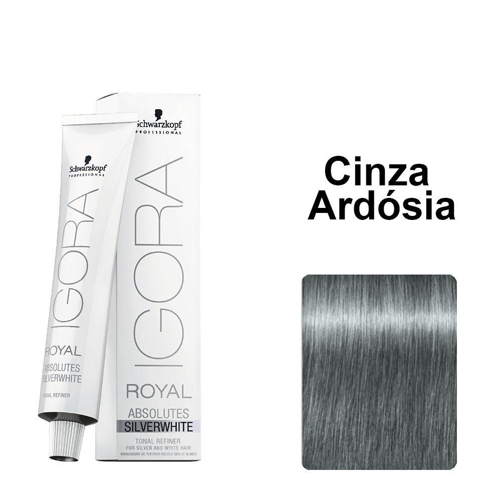 Schwarzkopf I. Absolutes Silverwhite Coloração Cinza Ardosia 60ml