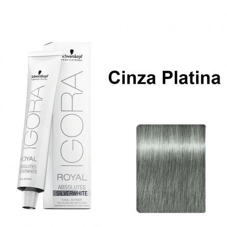 Schwarzkopf I. Absolutes Silverwhite Coloração Cinza Platina 60ml