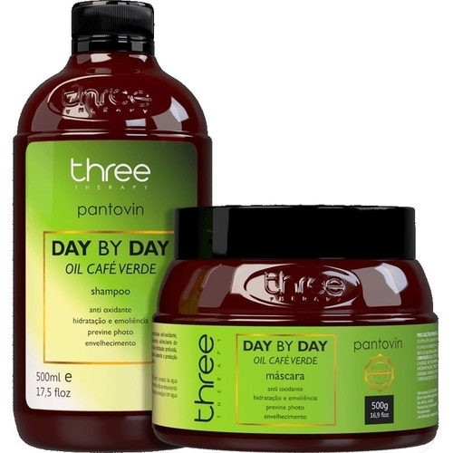 Three Therapy Kit Cafe Verde 2x500ml