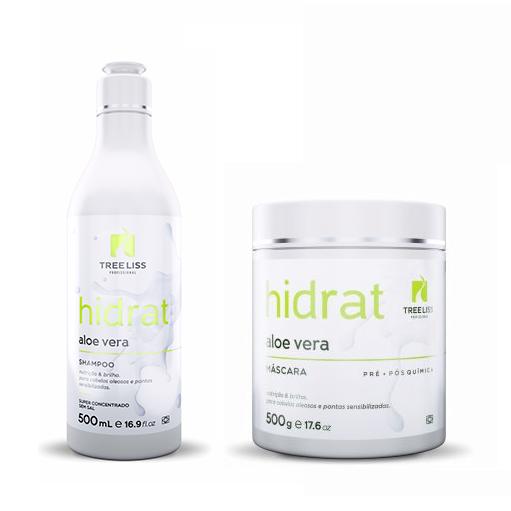 Tree Liss Kit Hidrat Aloe Vera Shampoo 500ml + Máscara 500g - R