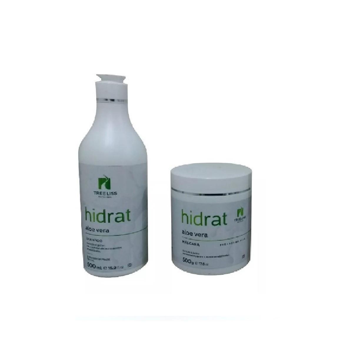 Tree Liss Kit Hidrat Aloe Vera Shampoo+Máscara 2X 500ml - R