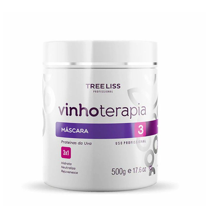 Tree Liss Máscara Hidratante VinhoTerapia Com Proteína Da Uva 500g