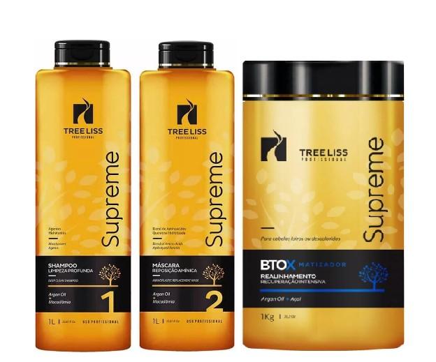 Tree Liss Supreme Kit Progressiva+Btox Matizador - R