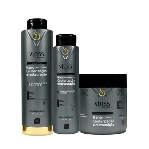 Vloss Kit Nano Cauterização e Restauração / Nano Seridefrizz