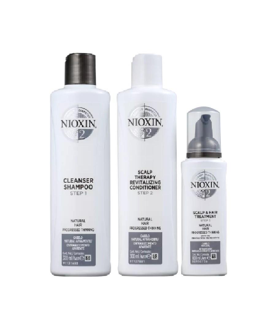 Wella Kit Nioxin System 2 Para Cabelo Fino - 3 Produtos