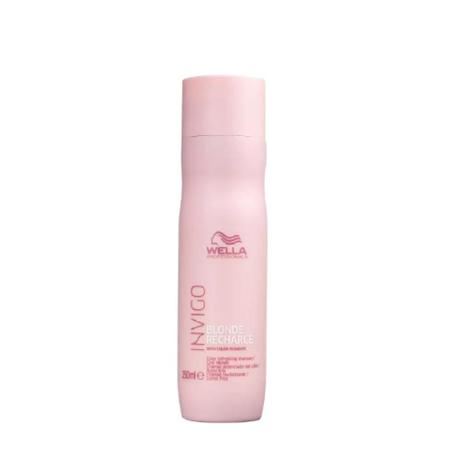 Wella Professionals Invigo Blonde Recharge - Shampoo Desamarelador 250ml - G