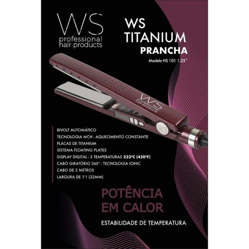 WS Professional Prancha Bordô Power 7000 Bivolt