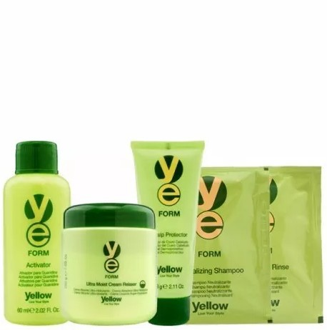 Yellow New Form Relaxer Kit Guanidina 200gr