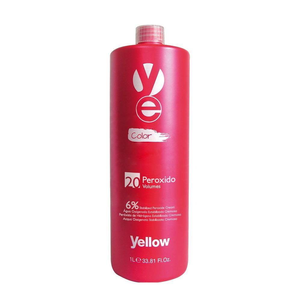 Yellow Ye Peróxido Água Oxigenada - 20 Vol. 6% - 1L