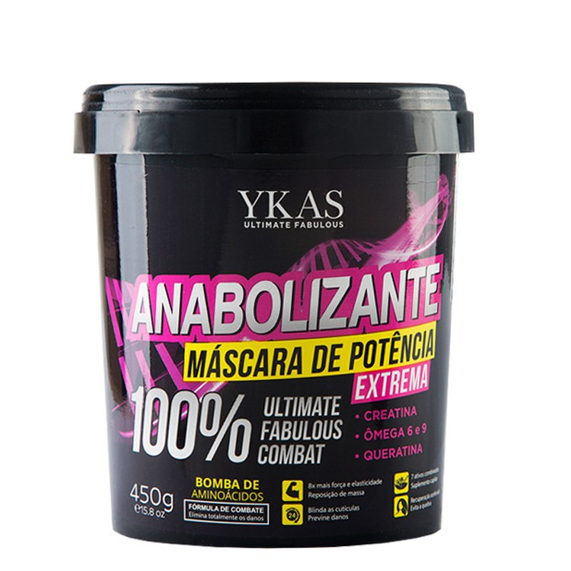 Ykas Anabolizante - Mascara de Potência 450g