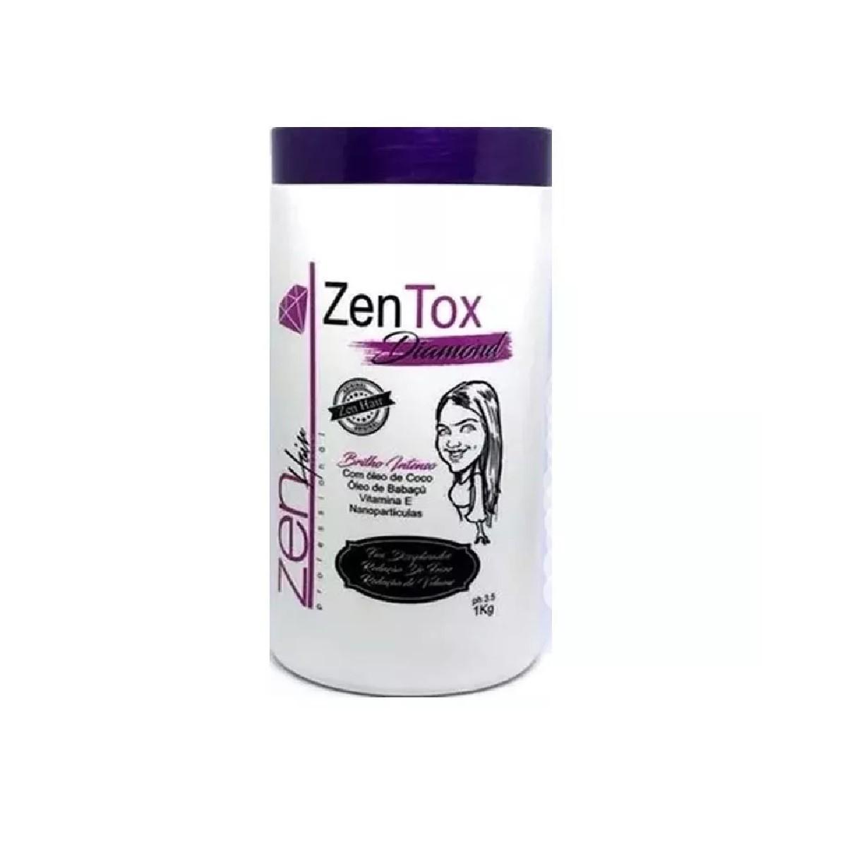 Zen Hair Botox Zentox Diamond Matizador 1kg - R