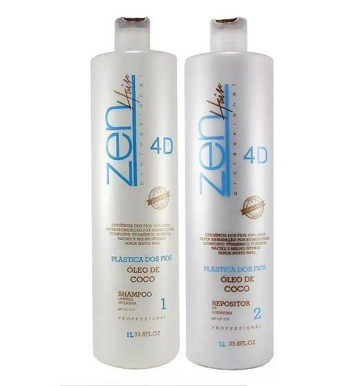 Zen Hair Plástica Dos Fios 4D Escova Progressiva 2x1000ml