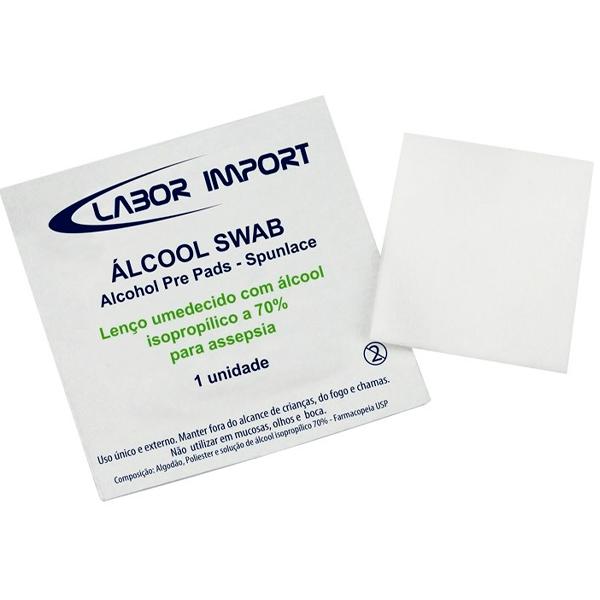 ÁLCOOL SWAB SACHE LABOR IMPORT