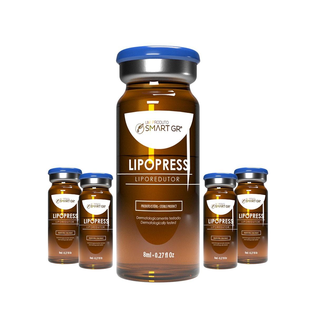LIPOPRESS - LIPORREDUTOR - 5 FRASCOS DE 8 ML - SMART GR