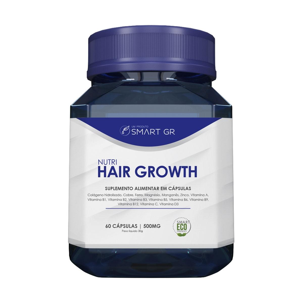 NUTRI HAIR GROWTH - SUPLEMENTO ALIMENTAR EM CÁPSULAS - CRESCIMENTO CAPILAR - SMART GR