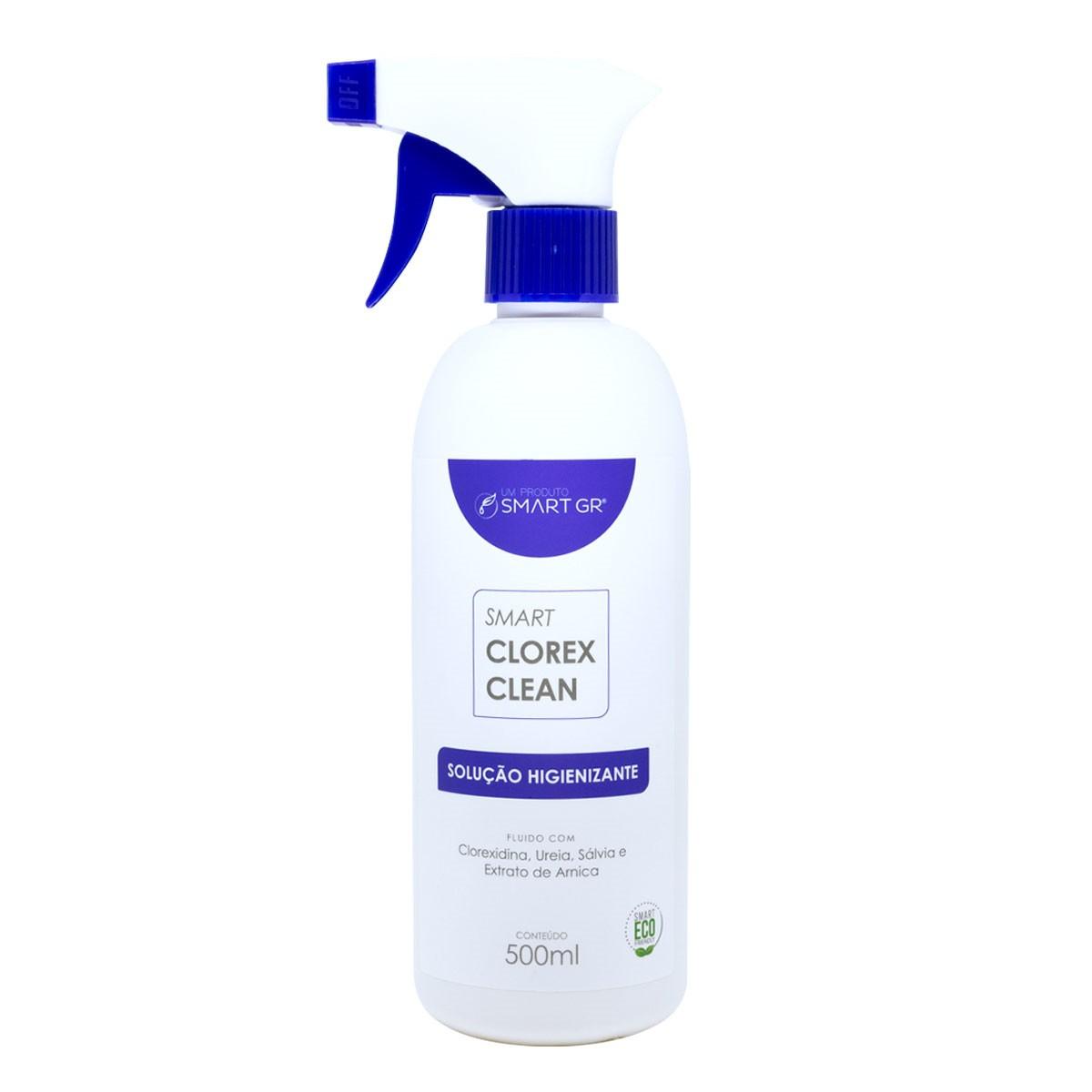SMART CLOREX CLEAN  SOLUÇÃO HIGIENIZANTE COM CLOREXIDINA 500 ML SMART GR
