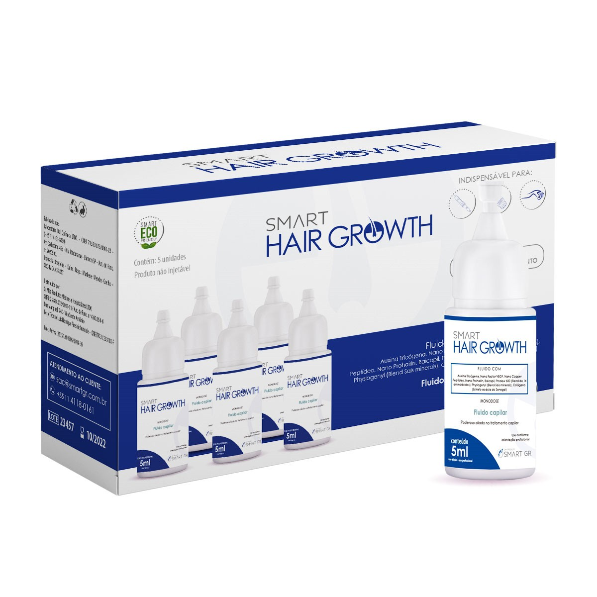 SMART HAIR GROWTH - TERAPIA CAPILAR - 5 MONODOSES DE 5 ML - T0013.20 SMART GR