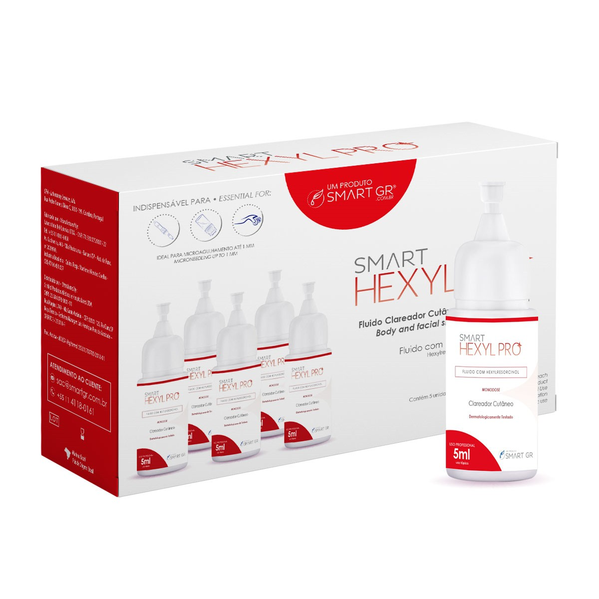 SMART HEXYL PRO CLAREADOR CUTÂNEO 5 MONODOSES DE 5 ML SMART GR