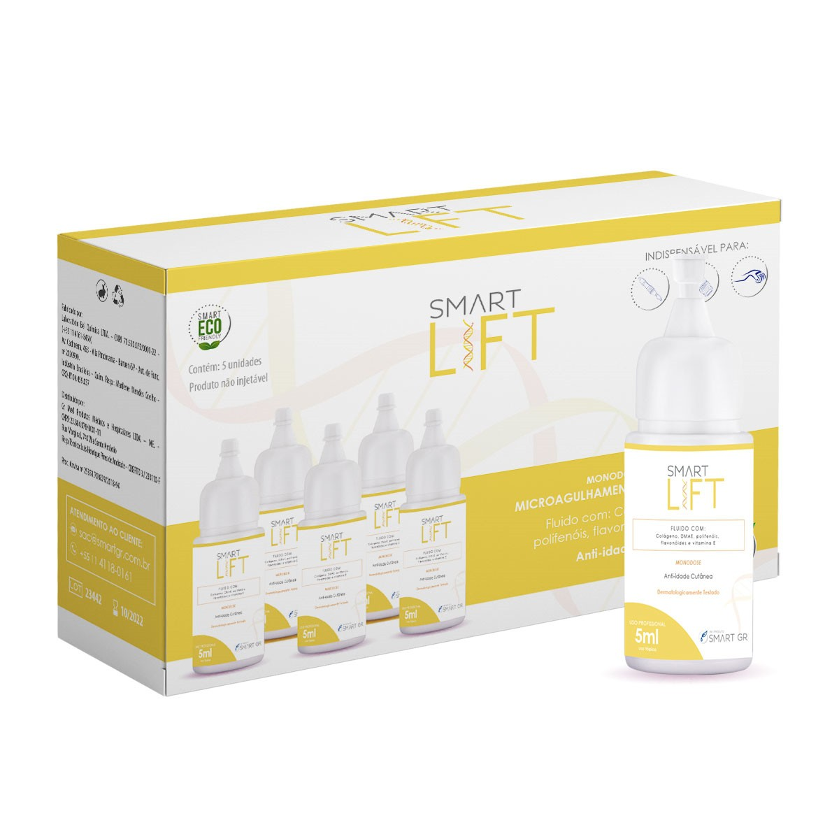 SMART LIFT ANTI IDADE CUTÂNEO 5 MONODOSES DE 5 ML SMART