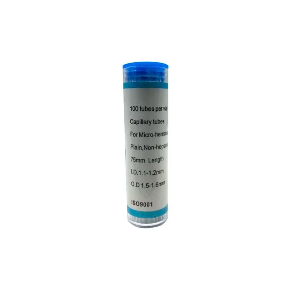 TUBO CAPILAR S HEPARINA AZUL FRASCO COM 100PC GETC-B-100 ION GLASS