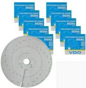 Kit com 10 cx Disco de Tacógrafo Semanal 125km 7 dias -  VDO