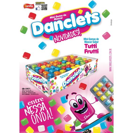 DANCLETS TUTTI FRUTTI 5X3 - 18 UNIDADES COM 4,5G CADA