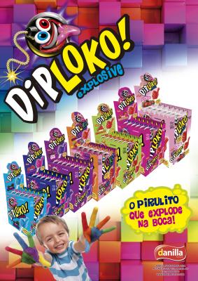DIP LOKO EXPLOSIVE SALADA DE FRUTA 15 UNIDADES COM 11G CADA