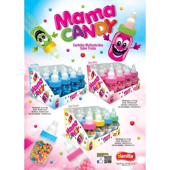 MAMA CANDY ROSA 12 UNIDADES COM 38G CADA