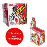 DIP LOKO POP HITS SABOR MORANGO 12x15x7g