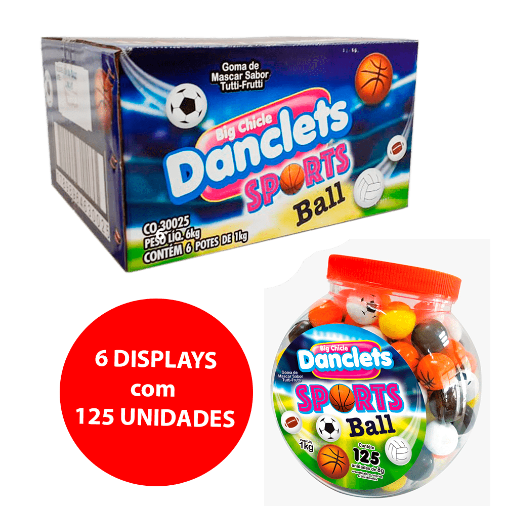 DANCLETS SPORT BALLS SABOR TUTTI 6x125x8g