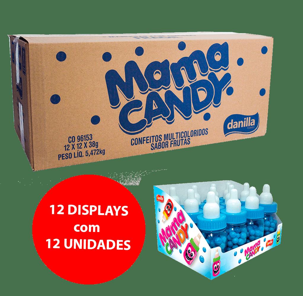 MAMA CANDY AZUL CONFEITOS SORTIDOS MULTICOLORIDOS SABOR TUTTI FRUTTI 12x12x38g